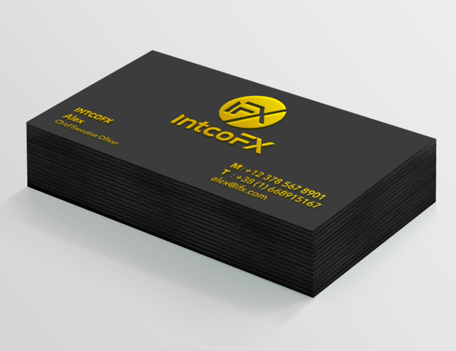 Black Paper Business cards