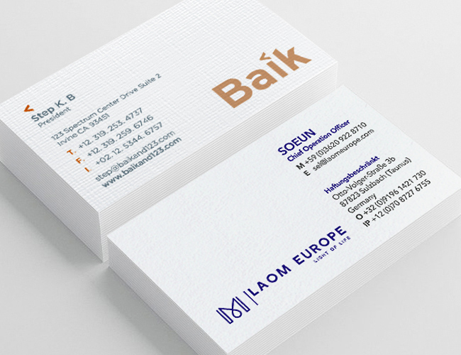 Premium Paper Business cards