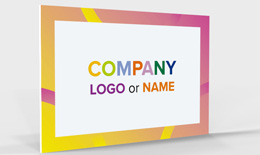 Company Sign Foamex Single