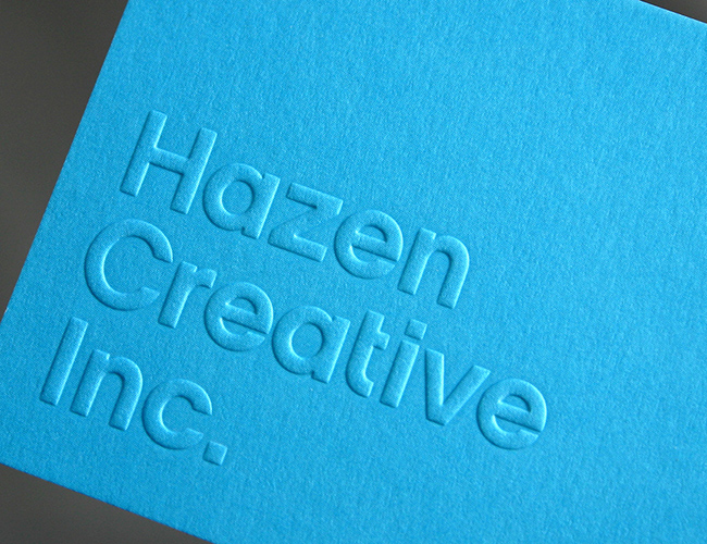 press embossing business cards