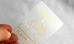 Frosty Plastic Card
