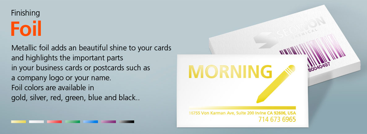 MorningPrint. - Bussiness Cards - Foiling - Gold, Silver, Red, Blue ...