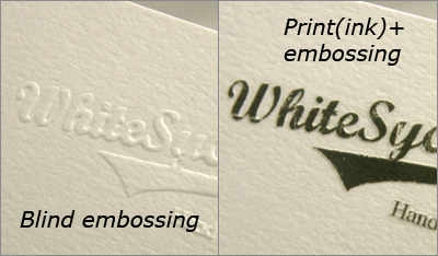 Morningprint business cards press embossing blind embossing press embossing reheart Images