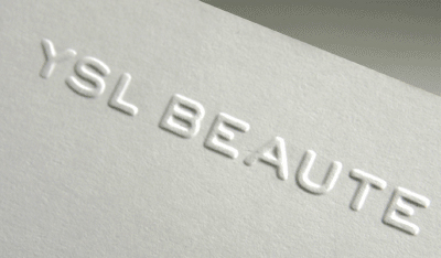 morningprint business cards press embossing blind embossing